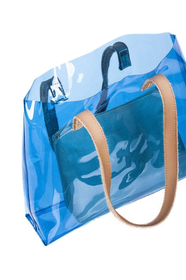 Transparent Beach Bag Blue