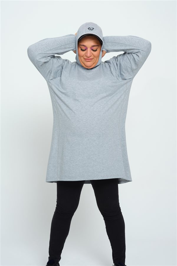Plus Size Active Sweat Gray